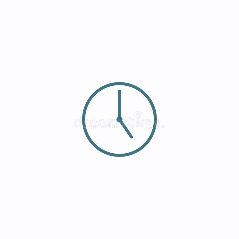 Reduzca la línea icono del tiempo Elemento plano geom?trico de la forma Ejemplo abstracto del EPS 10 Muestra del vector del conce ilustración del vector