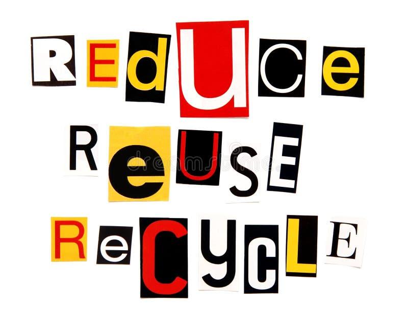 Reduzca la reutilización reciclan imagenes de archivo