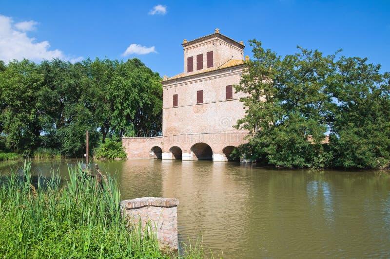 Reduzca la torre. Mesola. Emilia-Romagna. Italia. fotografía de archivo libre de regalías