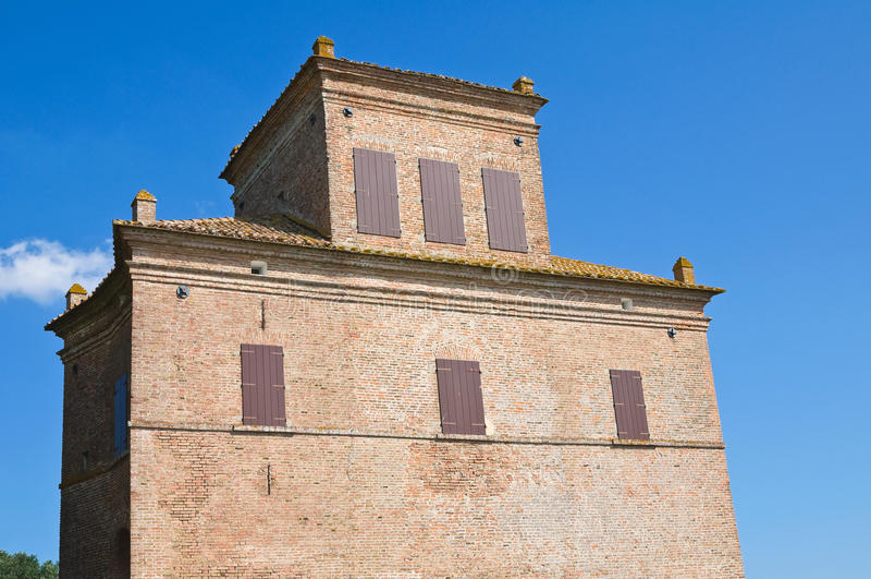 Reduzca la torre. Mesola. Emilia-Romagna. Italia. fotos de archivo
