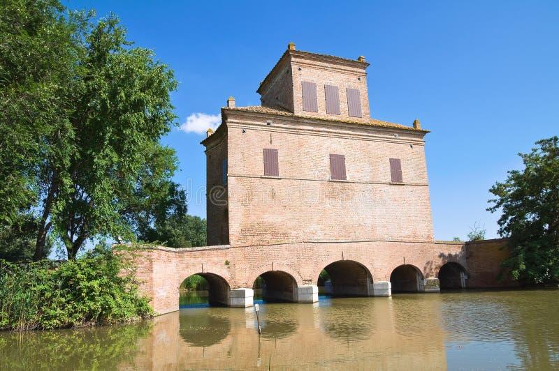Reduzca la torre. Mesola. Emilia-Romagna. Italia. imagen de archivo