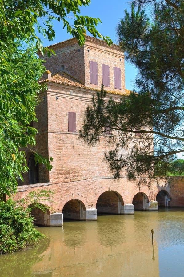 Reduzca la torre. Mesola. Emilia-Romagna. Italia. fotografía de archivo