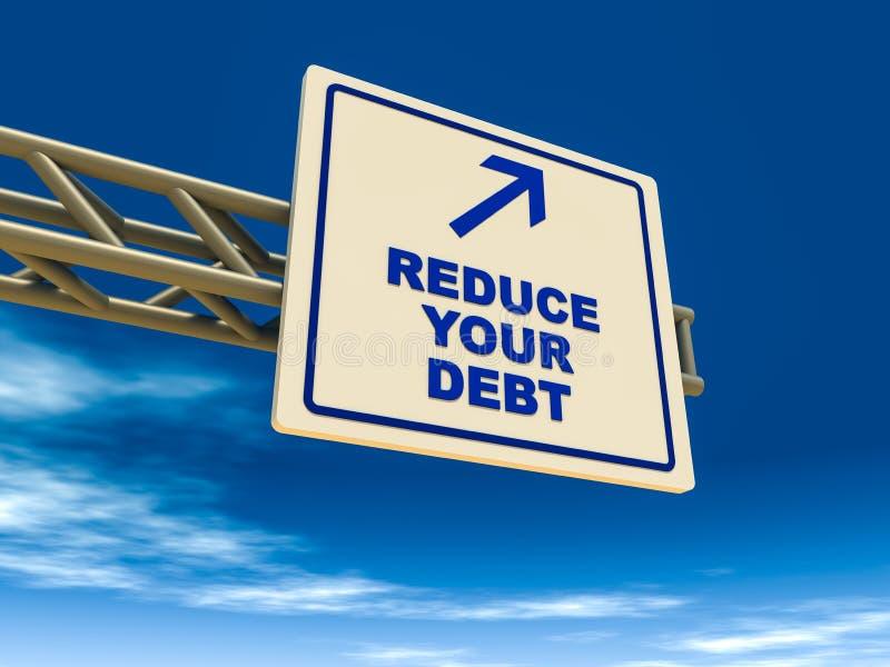 Reduzca su deuda stock de ilustración