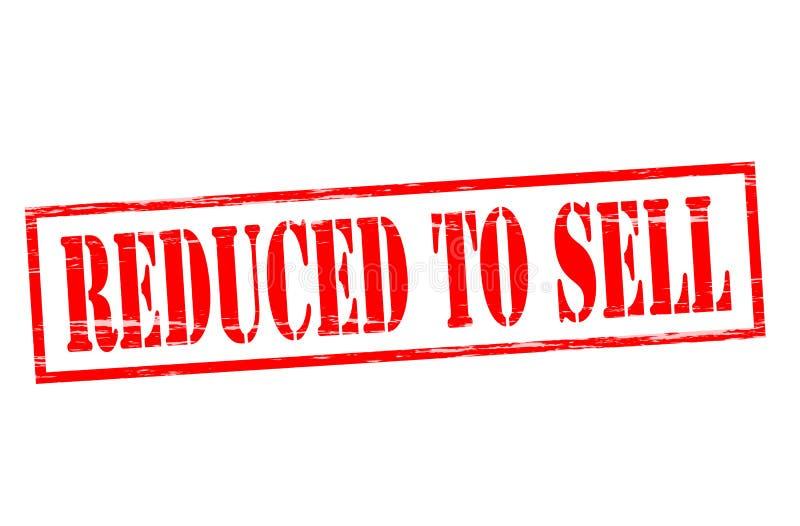 Reduzido à venda ilustração stock