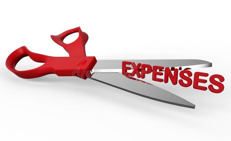 Reduzindo despesas ilustração royalty free