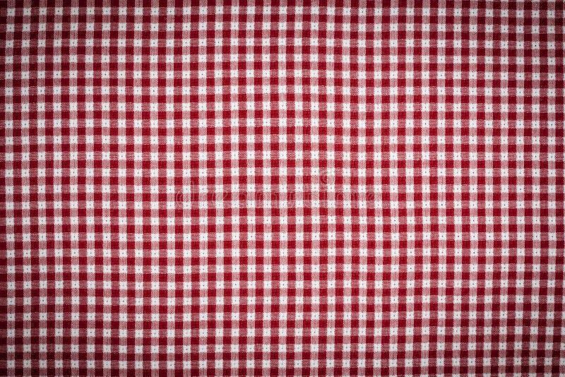 RedWhite Gingham Checkered Background Vignetted