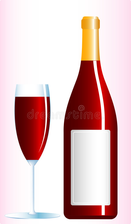 Download Redwine stock vector. Illustration of bottle, cabernet - 3524240
