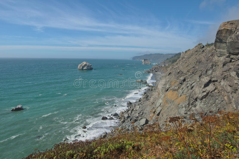 Redwood coast north of high bluff overlook royalty free stock images