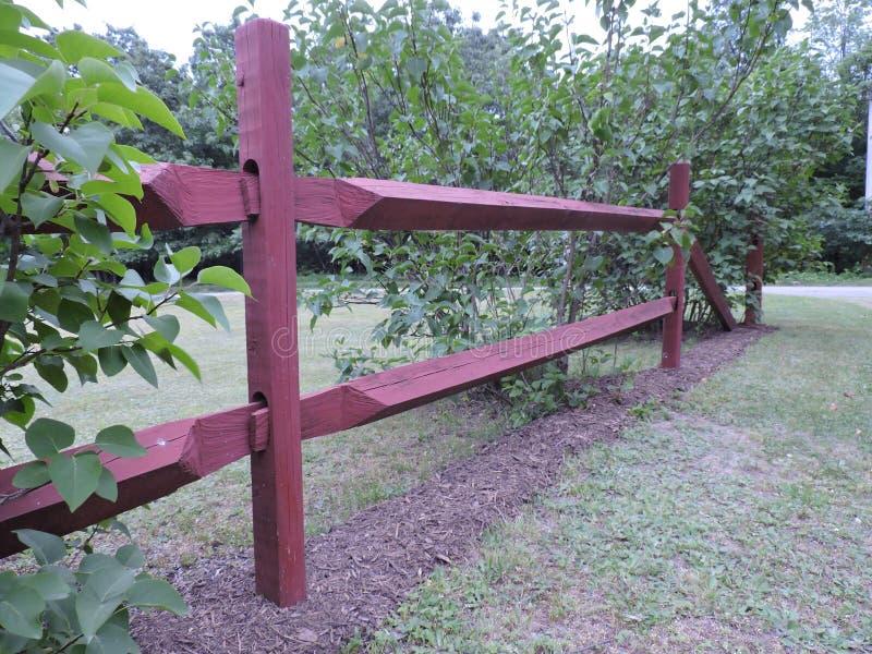 Redwood fence royalty free stock image