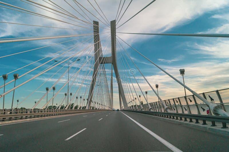 Redzinski Bridge in Wroclaw in Polen Wegrit royalty-vrije stock fotografie