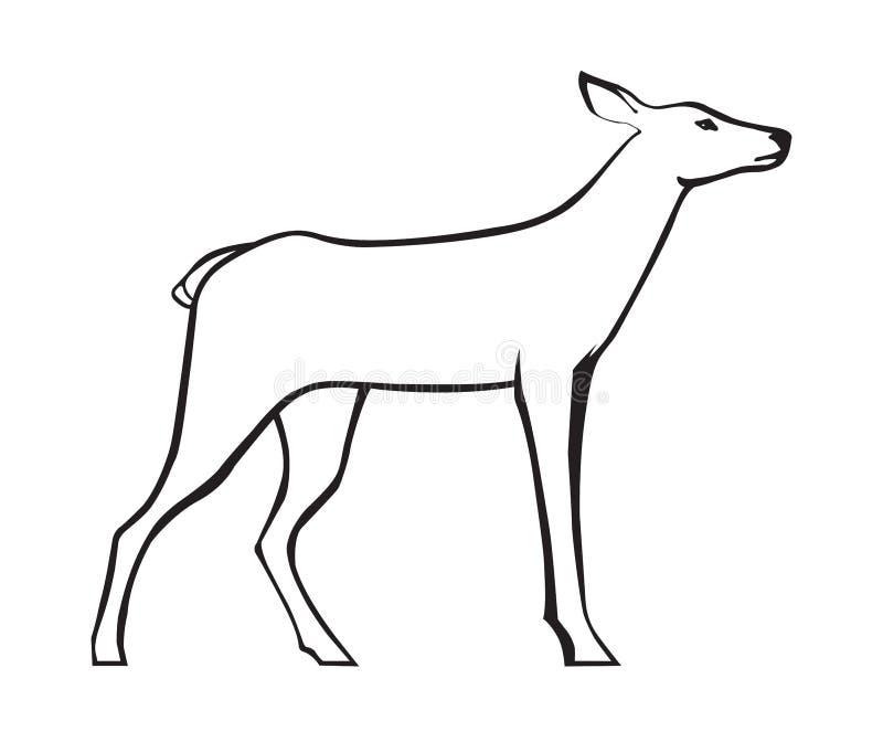 Reeënbeeld royalty-vrije illustratie