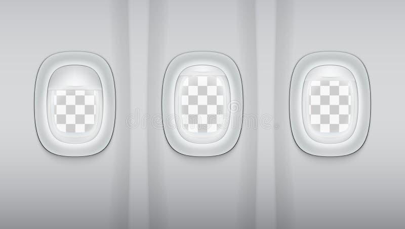 Reealistic światło - szarość Płaski Windows royalty ilustracja