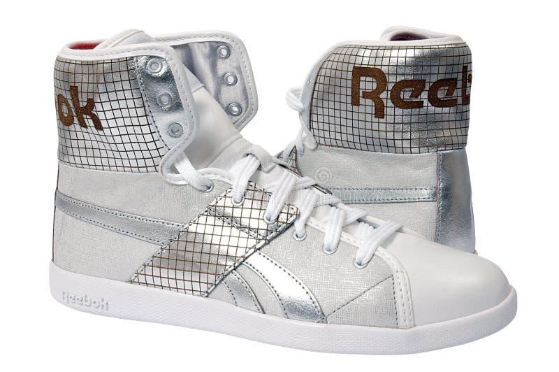 reebok shoes sporten royaltyfria foton