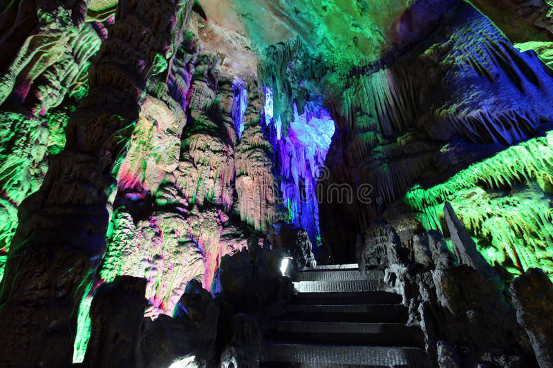 Reed Flute Caves in Guilin, China royalty-vrije stock afbeelding