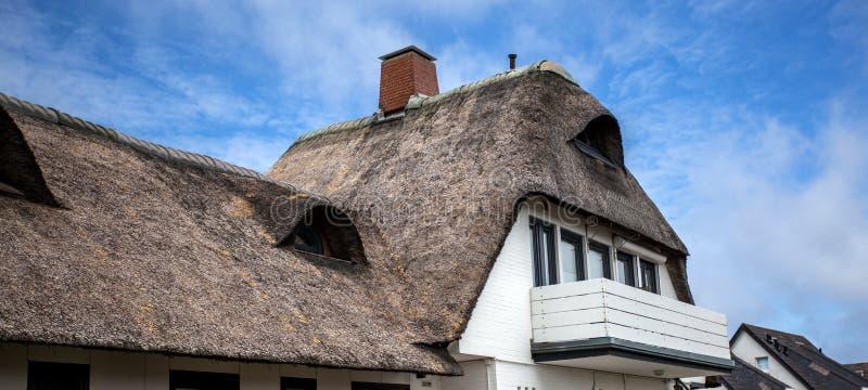 Reed ha coperto la casa in Germania immagine stock libera da diritti