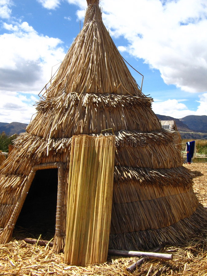 Reed Tent stock image