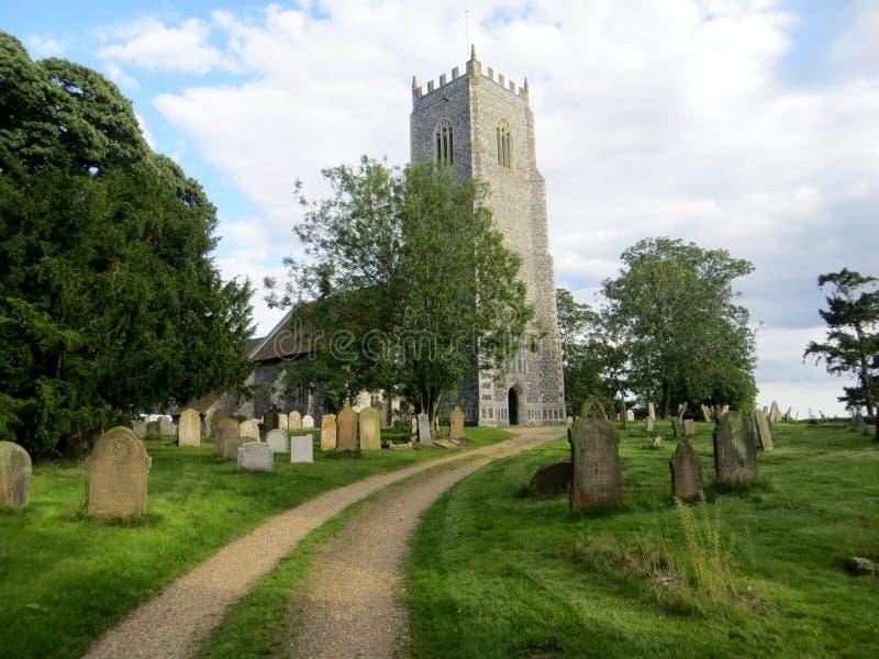 Reedham Church. St John's Church and graveyard, Reedham, Norfolk royalty free stock photos
