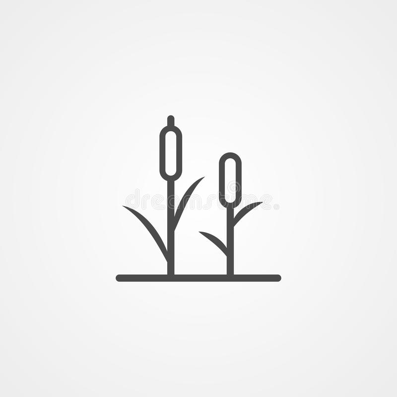 Reeds vector icon sign symbol vector illustration