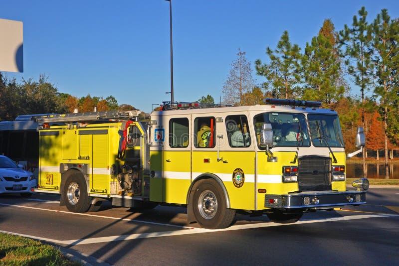 Reedy Creek Fire Truck in Orlando, Florida, de V.S. stock foto