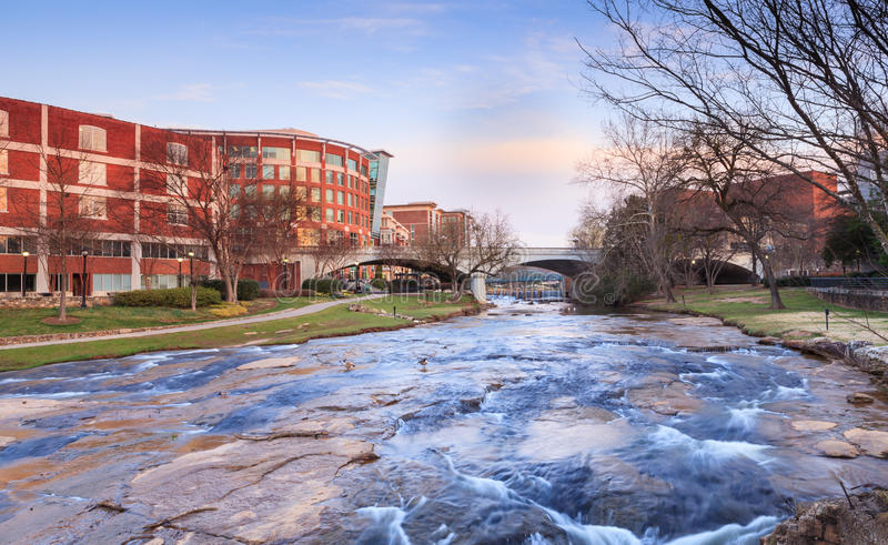 Reedy River Greenville South Carolina image stock