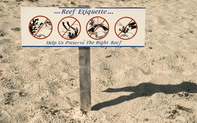 Reef Etiquette stock photo