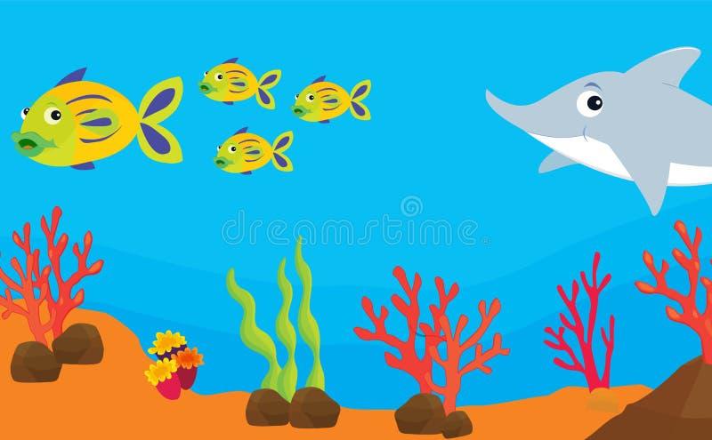 Download Reef fish illustration stock illustration. Illustration of fish - 7330847