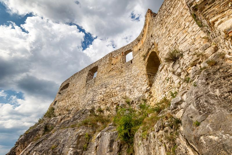 Reef of medieval castle Spis. stock images