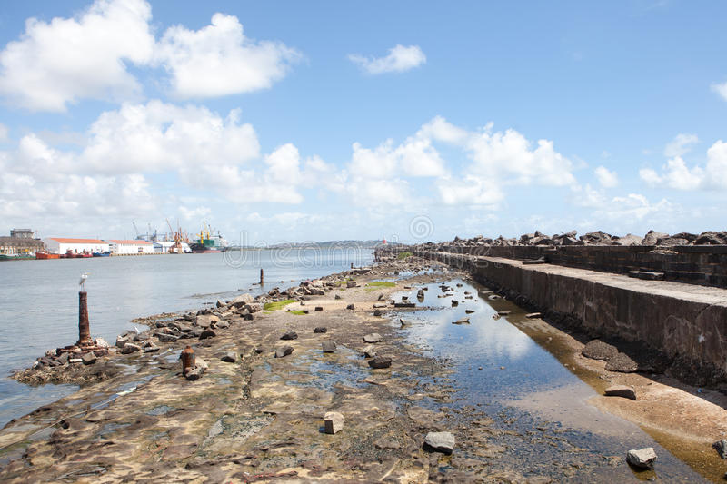 Reef of Recife in Brasil. Skyline of Recife, one of the host cities of FIFA World Cup 2014 royalty free stock photography