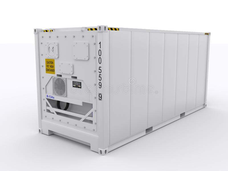 Reefer container. Isolated on white background royalty free stock image