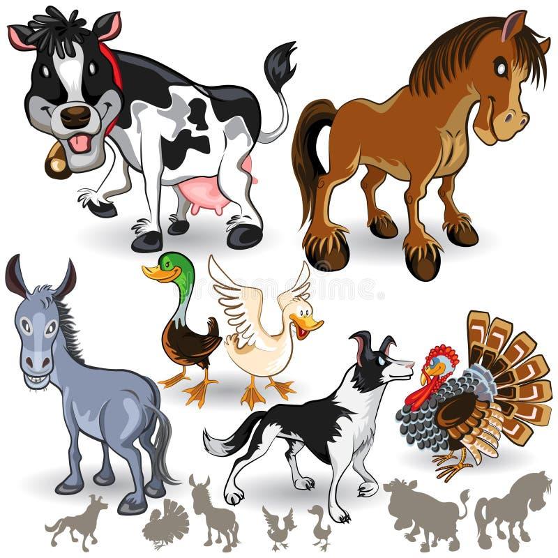 Reeks 02 van de Inzameling van de Dieren van het landbouwbedrijf vector illustratie