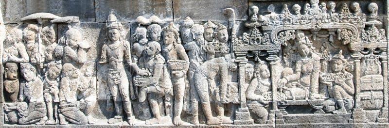 Reeks 02 van de Tempel van Borobudur stock afbeeldingen