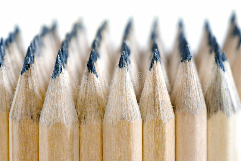 Reeks 02 van het potlood stock afbeelding