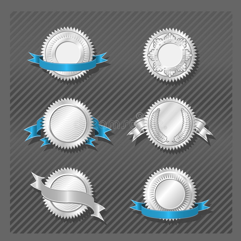 REEKS 08 van EMBLEMEN - Medaillon royalty-vrije illustratie