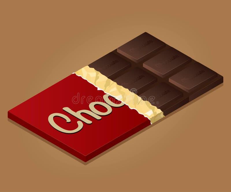 Reeks 1 van de chocolade stock illustratie