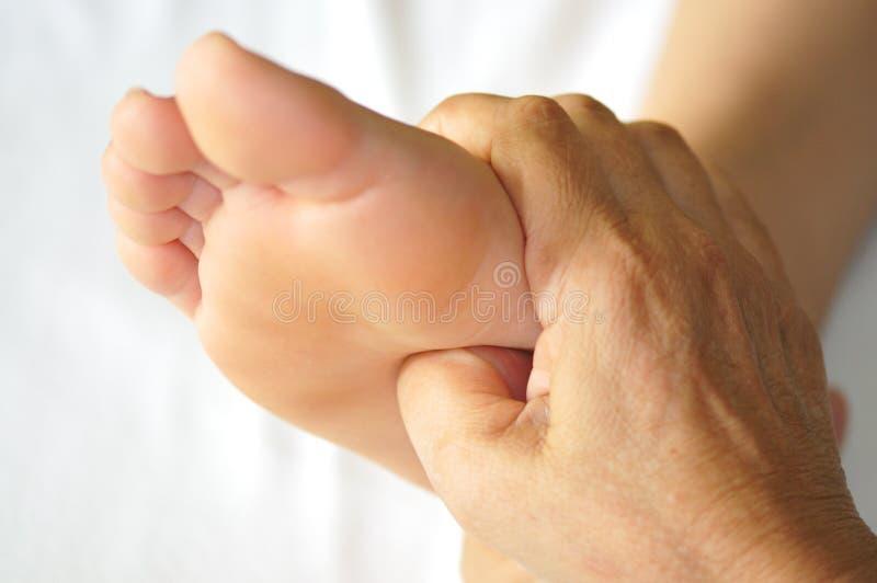 Reeks 2 van Reflexology van de voet stock foto's