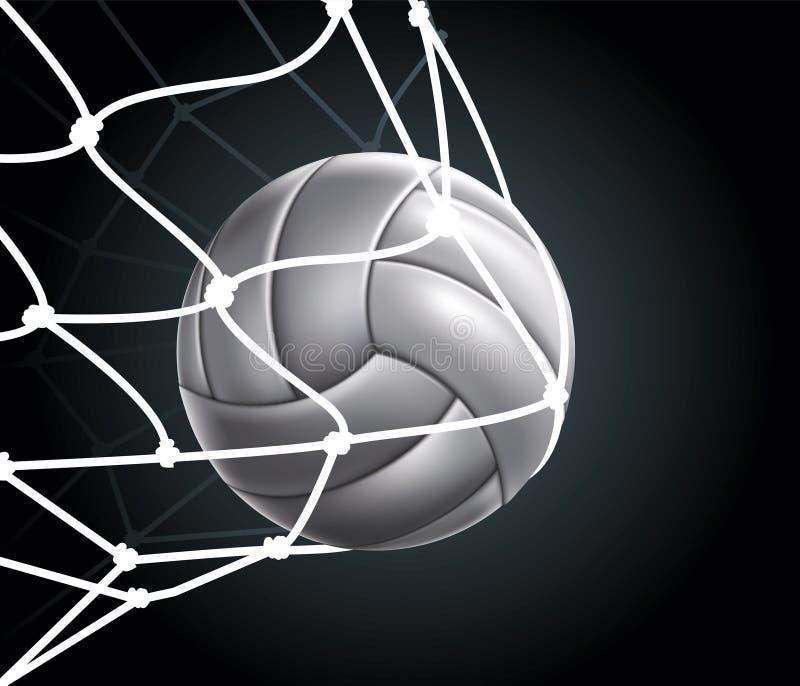 Reeks 3 van de Bal van het volleyball royalty-vrije illustratie