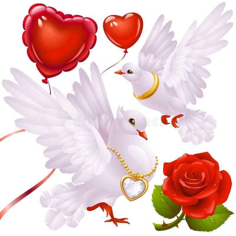 Reeks 3 van de Dag van de valentijnskaart stock illustratie