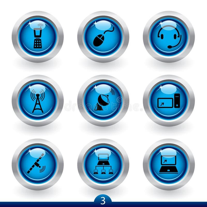 Reeks 3 van het pictogram - comunications royalty-vrije illustratie