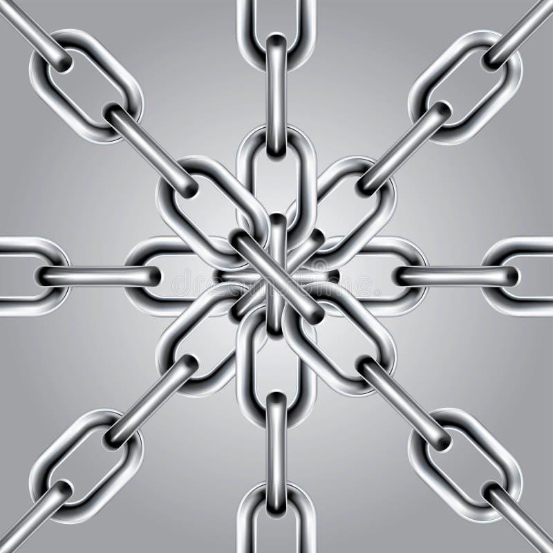 Reeks 5 van de ketting vector illustratie