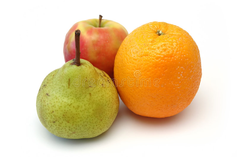 Reeks 6 van het fruit stock fotografie