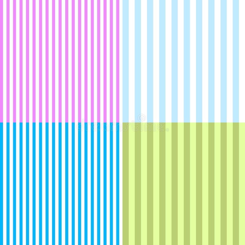 Reeks Abstracte achtergronden met verticale lijnen Vector royalty-vrije illustratie