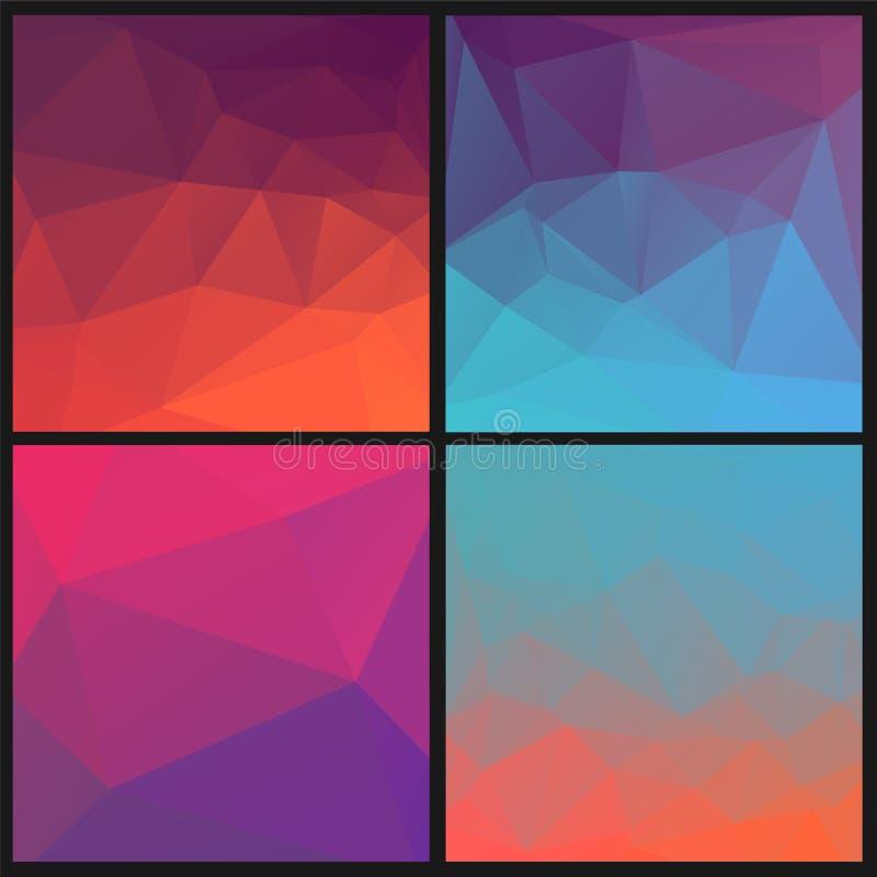 Download Reeks Abstracte Geometrische Driehoekenachtergronden Stock Illustratie - Illustratie bestaande uit kaart, digitaal: 54086477