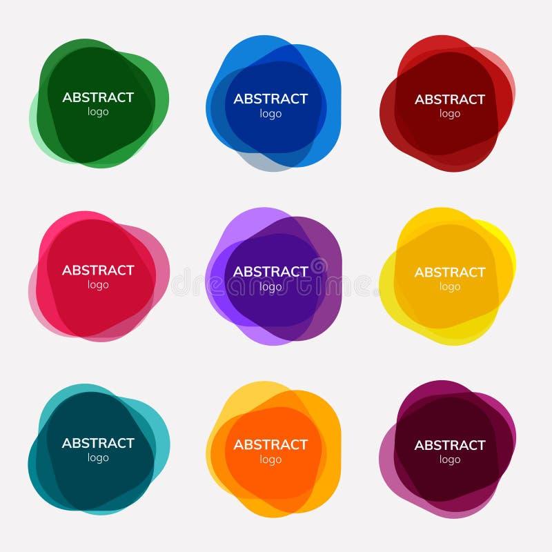 Reeks abstracte kentekenontwerpen vector illustratie
