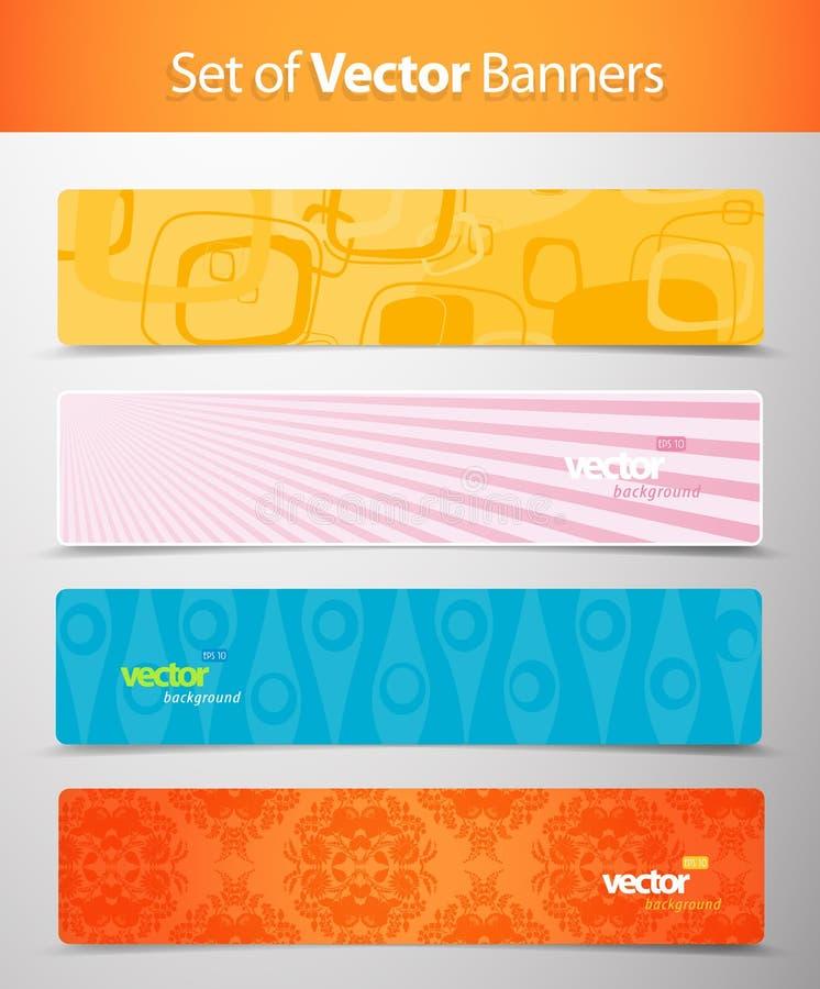 Reeks abstracte kleurrijke Webkopballen. royalty-vrije illustratie