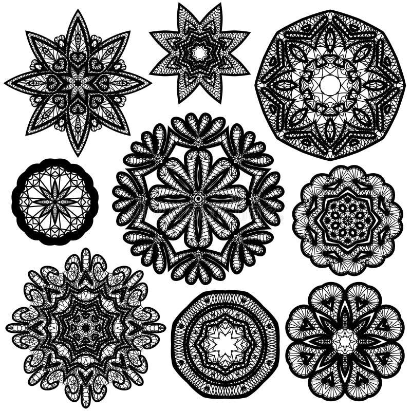 Reeks Abstracte patronen van het cirkelkant royalty-vrije illustratie