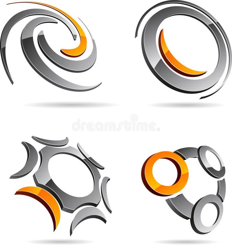 Reeks abstracte symbolen. vector illustratie