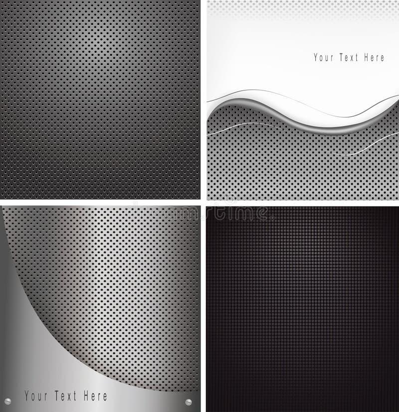 Reeks abstracte textuurachtergronden vector illustratie