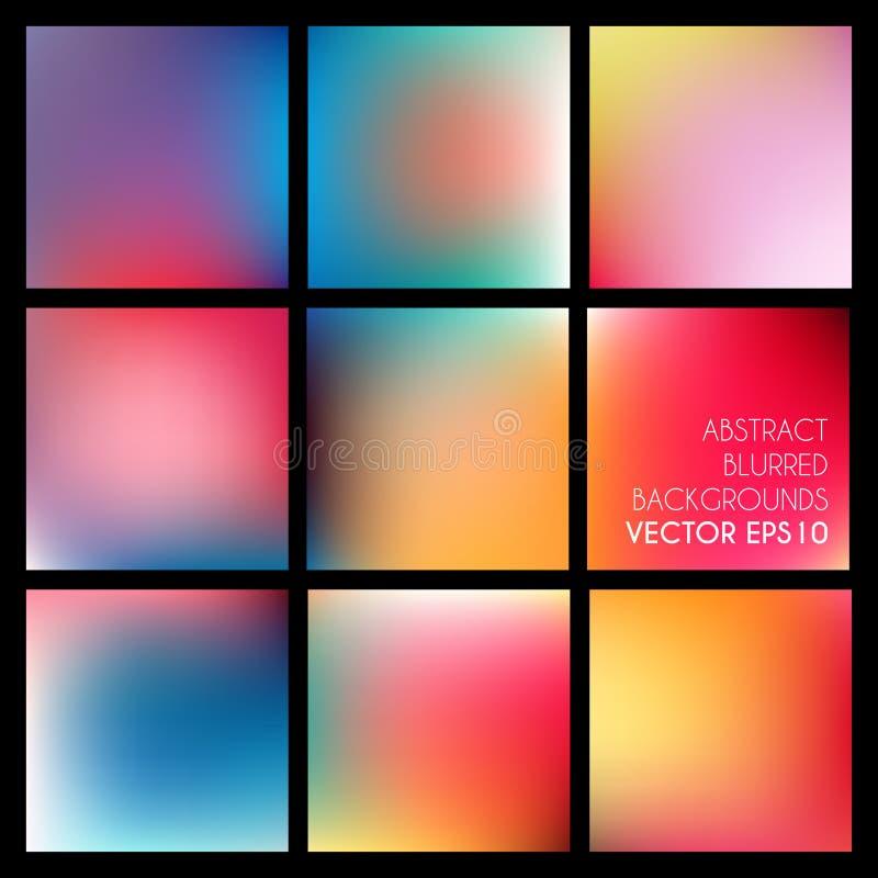 Reeks abstracte vector vage achtergronden royalty-vrije illustratie