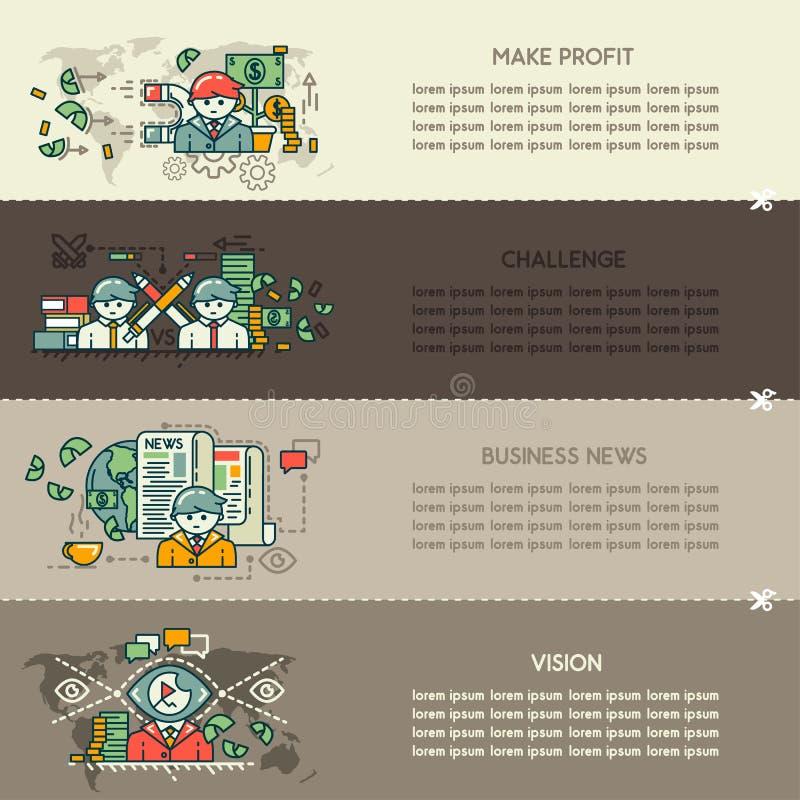 Reeks achtentwintig bedrijfsbanners stock illustratie