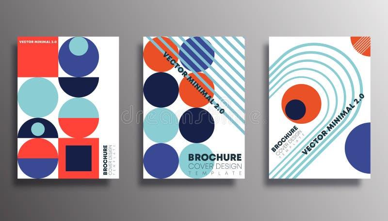 Reeks achtergronden met retro geometrische vormgeving voor flyer, poster, brochure cover, typografie of andere drukkerijen vector illustratie